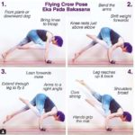 flying crow pose